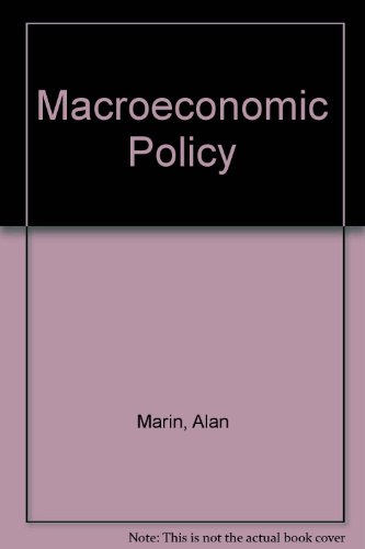 Macroeconomic Policy: Marin, Alan