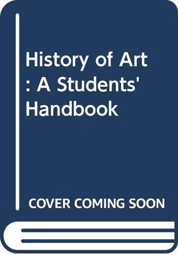 9780415083997: History of Art: Student's Handbook