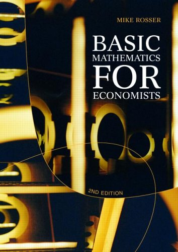 9780415084253: Basic Mathematics for Economists