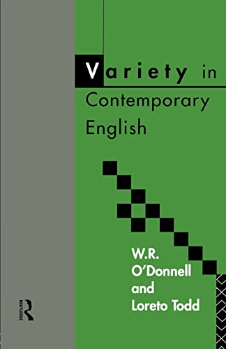 9780415084376: Variety in Contemporary English