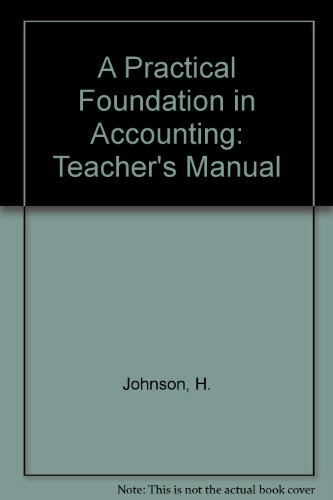 9780415090469: A Practical Foundation in Accounting: Teacher's Manual