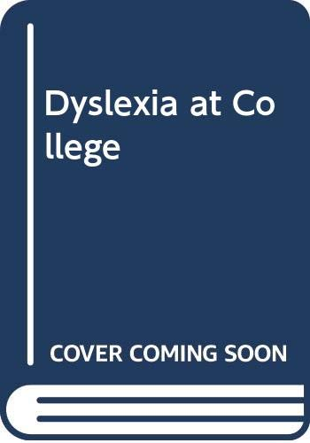 9780415091138: Dyslexia At College Pb