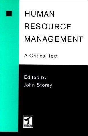 9780415091503: Human Resource Management: A Critical Text