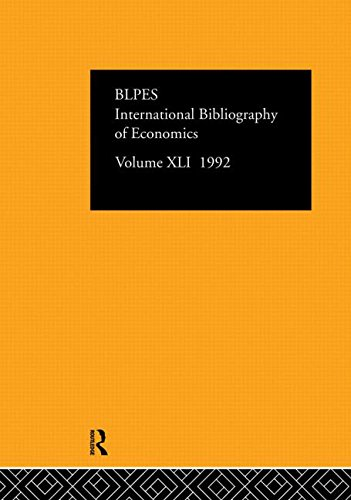 IBSS: Economics 1992: Volume 41 (Hardback)
