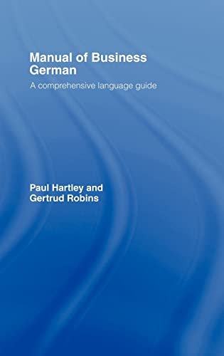 9780415092661: Manual of Business German: A Comprehensive Language Guide (Language Manuals for Business Series)