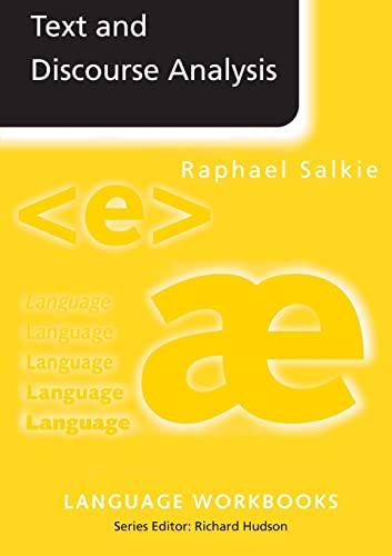9780415092784: Text and Discourse Analysis (Language Workbooks)
