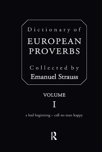 9780415096249: Dictionary of European Proverbs