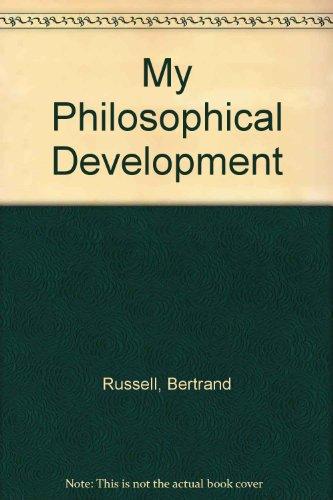 9780415098656: My Philosophical Development