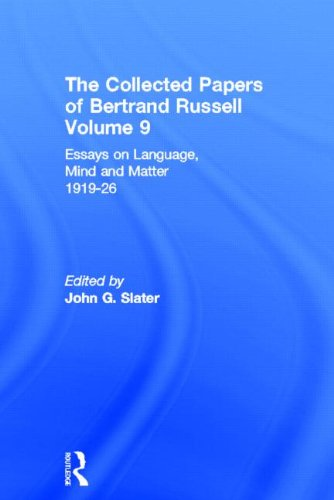 9780415099172: The Collected Papers of Bertrand Russell, Volume 9: Essays on Language, Mind and Matter, 1919-26