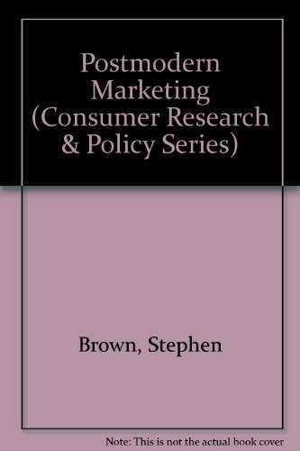 9780415101554: Postmodern Marketing (Consumer Research and Policy Series)