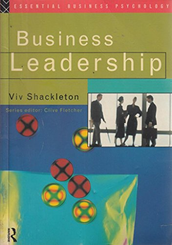 9780415103305: Business Leadership (Essential Business Psychology)