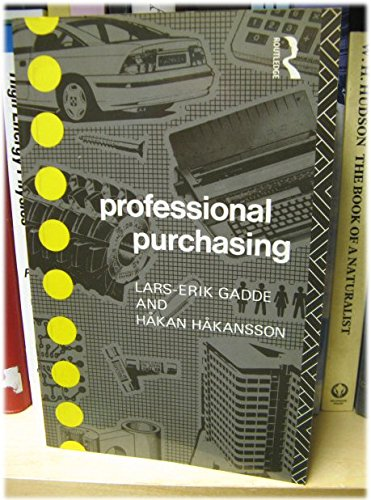 9780415103978: Professional Purchasing (Consumer Research and Policy Series)