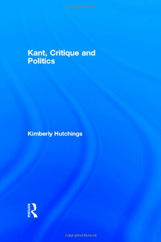 9780415105071: Kant, Critique and Politics