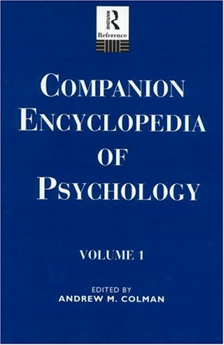 9780415107044: Comp Ency Psychology V 1 (Routledge reference)