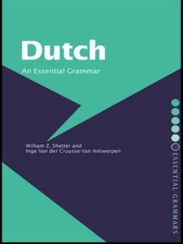 9780415112772: Dutch: An Essential Grammar (Routledge Essential Grammars)
