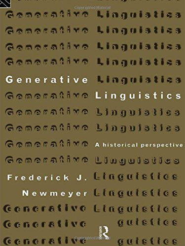 9780415115537: Generative Linguistics: An Historical Perspective (History of Linguistic Thought)