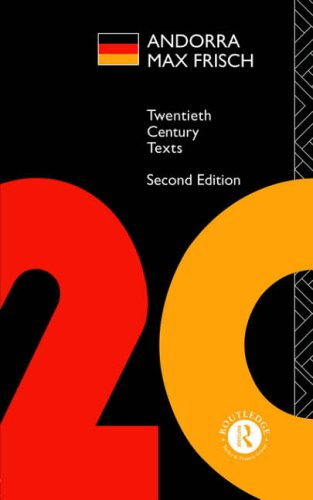 9780415115643: Andorra: Max Frisch (Twentieth Century Texts)