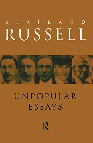 9780415119634: Unpopular Essays