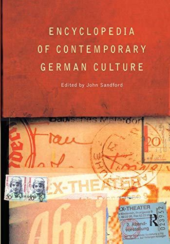 9780415124485: Encyclopedia of Contemporary German Culture (Encyclopedias of Contemporary Culture)
