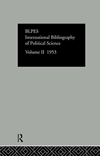 International Bibliography of Political Science 1953: Volume 2 (Hardback)