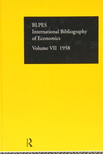 International Bibliography of Economics 1958: Volume 7 (Hardback)