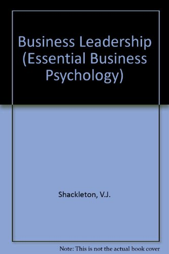 9780415126786: Business Leadership (Essential Business Psychology)