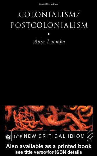Colonialism - Postcolonialism: Ania Loomba