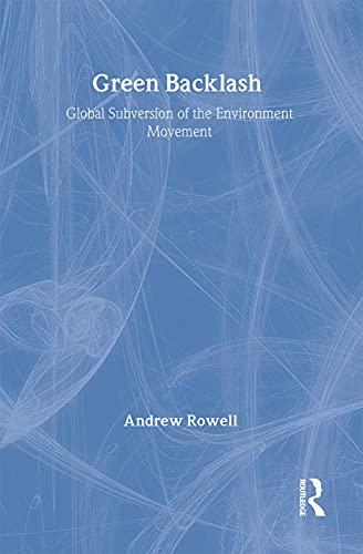 9780415128278: Green Backlash: Global Subversion of the Environment Movement