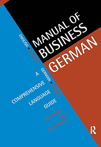 9780415129022: Manual of Business German: A Comprehensive Language Guide (Languages for Business)