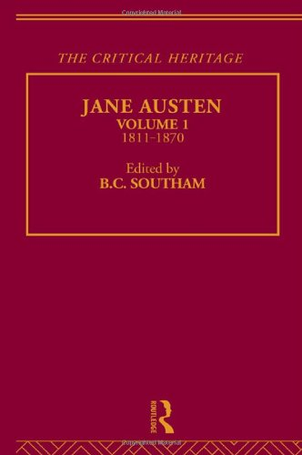 9780415134569: The Collected Critical Heritage I: Jane Austen: The Critical Heritage Volume 1 1811-1870: 1811-70 Vol 1