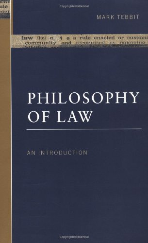 9780415135252: Philosophy of Law: An Introduction