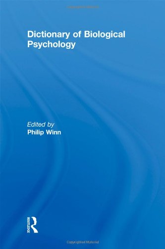9780415136068: Dictionary of Biological Psychology