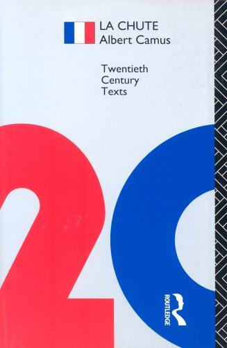 9780415136334: La Chute (Twentieth Century Texts)