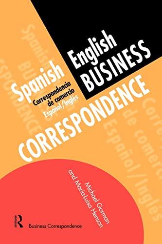 9780415137133: Spanish/English Business Correspondence: Correspondecia de Comercio Espanol/Ingles (Languages for Business)