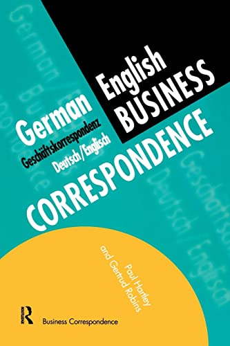 9780415137140: German/English Business Correspondence: Geschaftskorrespondenz Deutsch/Englisch