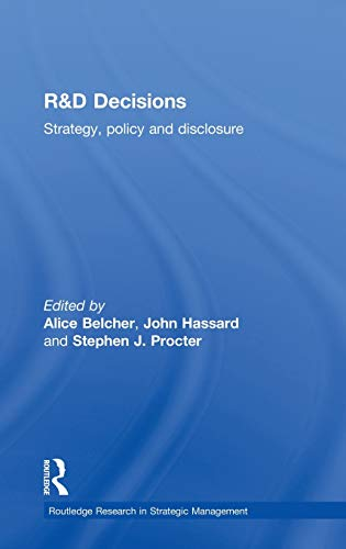 9780415137775: R&D Decisions: Strategy Policy and Innovations (Routledge Research in Strategic Management)
