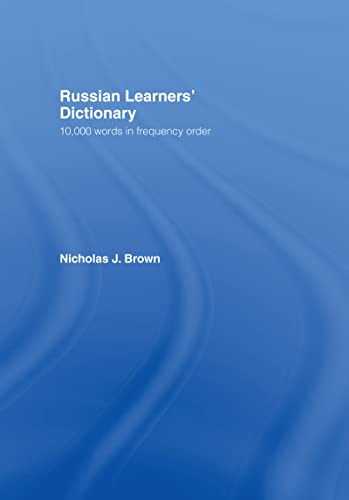 9780415137911: Russian Learners' Dictionary: 10,000 Russian Words in Frequency Order