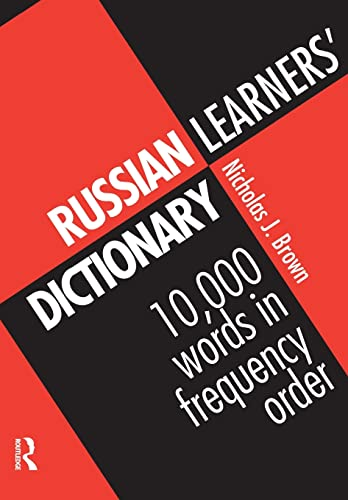 9780415137928: Russian Learners' Dictionary: 10,000 Russian Words in Frequency Order