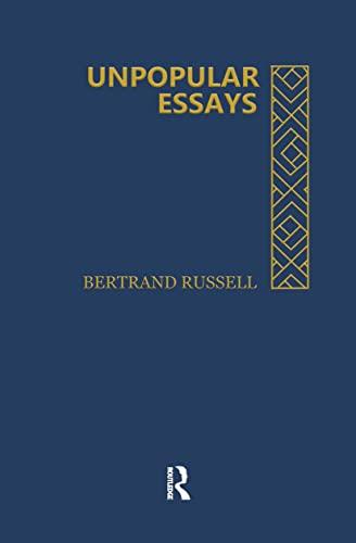 9780415138758: Unpopular Essays