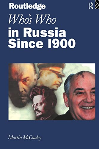9780415138987: Who's Who in Russia since 1900 (Routledge Who's Who S)
