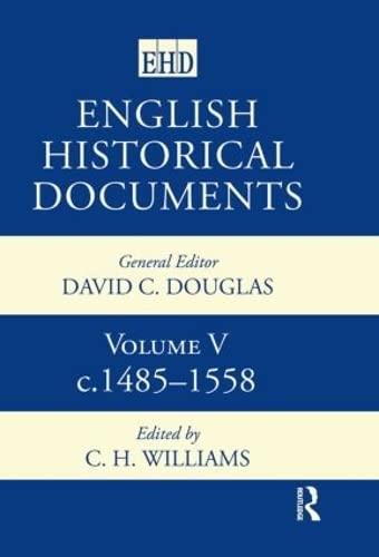 9780415143707: English Historical Documents: Volume 5 1485-1558