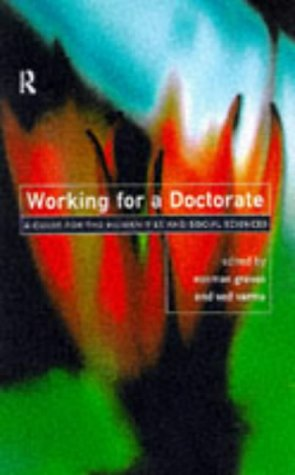 9780415147316: Working for a Doctorate: A Guide for the Humanities and Social Sciences