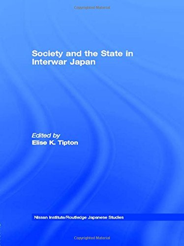 9780415150699: Society and the State in Interwar Japan (Nissan Institute/Routledge Japanese Studies)