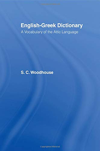 9780415151542: English-Greek Dictionary: A Vocabulary of the Attic Language