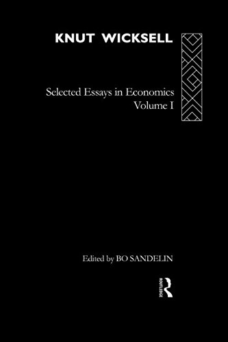 9780415155120: Knut Wicksell: Selected Essays in Economics, Volume One: 1