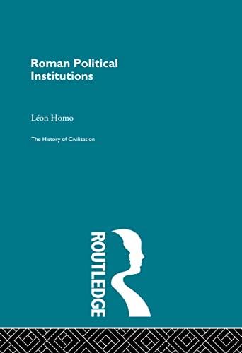 9780415155847: Roman Political Institutions