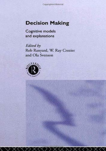 9780415158183: Decision Making: Cognitive Models and Explanations (Frontiers of Cognitive Science)