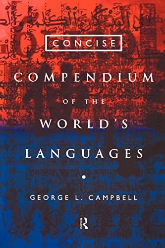 9780415160490: Concise Compendium of the World's Languages