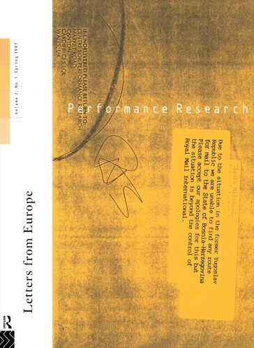 9780415161787: Performance Research: Letters from Europe