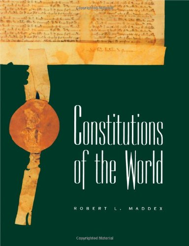 9780415164368: Constitutions of the World